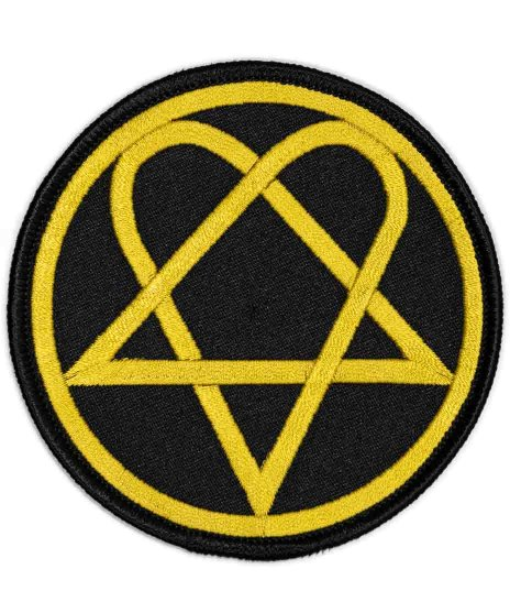 HIM バンドワッペン Heartagram Circle