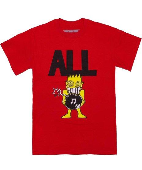All ( オール ) Allroy Sez バンドTシャツカラー:レッド<br>サイズ:S〜L<br>ALLの1988年発売のジャケットデザイン