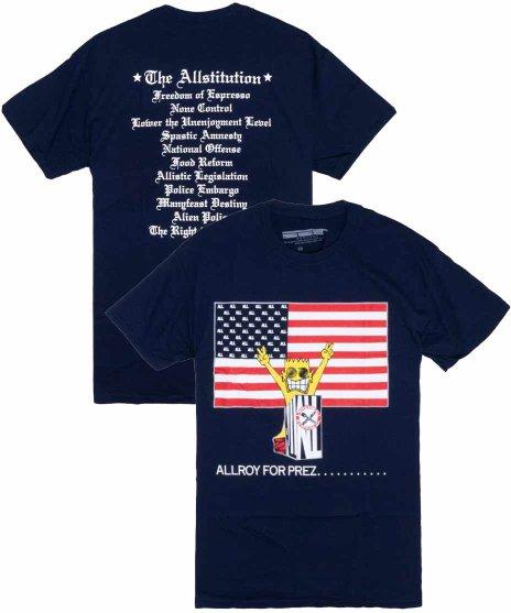 All ( オール ) Allroy For Prez バンドTシャツカラー:ネイビー<br>サイズ:S〜L<br>アルバムAllroy for Prez...のジャケットのデザインです