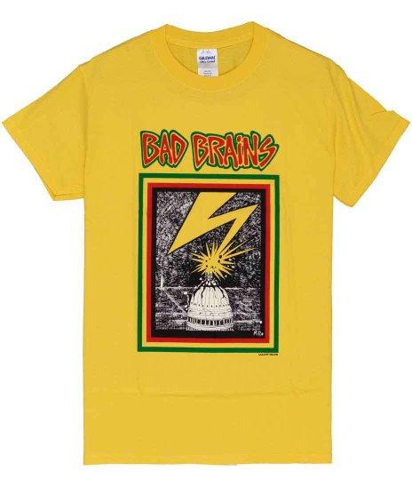 バッド・ブレインズ ( Bad Brains ) Capitol 【イエロー】 バンドTシャツカラー:イエロー<br>サイズ:S〜XL<br>バッドブレインズの議事堂のデザインにイエローボディー