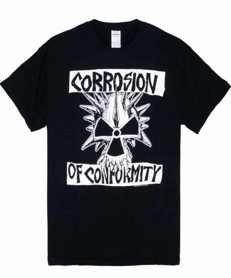 COC (コロージョン・オブ・コンフォーミティ) Classic Skull バンドTシャツカラー:ブラック<br>サイズ:S〜L<br>フロントにスカルのバンドロゴをシンプルにプリント