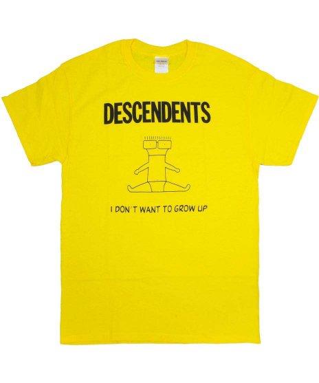 ディセンデンツ ( Descendents ) I Don'T Want To Grow Up バンドTシャツカラー:イエロー<br>サイズ:S〜L<br>I DON'T WANT TO GROW UPのアルバムのデザインです