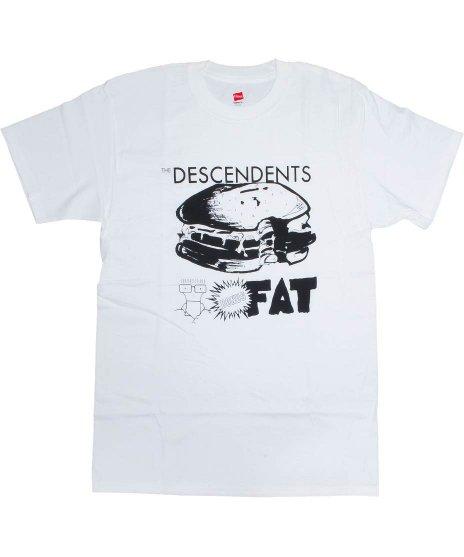 ディセンデンツ ( Descendents ) Bonus Fat バンドTシャツカラー:ホワイト<br>サイズ:S〜L<br>アルバムボーナスファットのハンバーガーのデザインです。