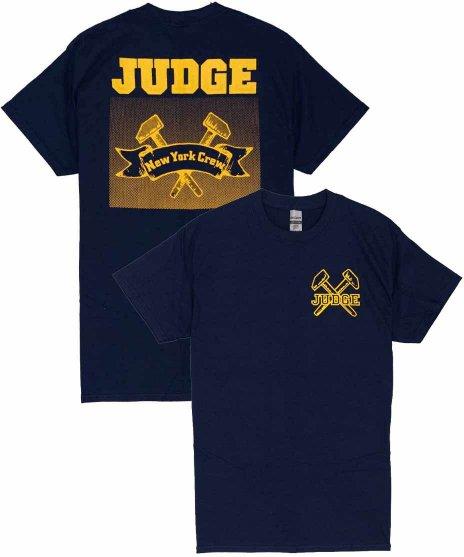 Judge ( ジャッジ ) New York Crew バンドTシャツカラー:ネイビー<br>サイズ:S〜XL<br>バックに大きくアークロゴがプリントされたデザイン