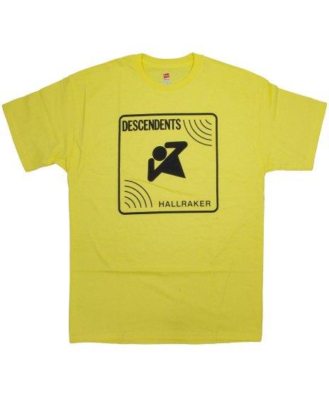 ディセンデンツ ( Descendents ) Hallraker バンドTシャツカラー:イエロー<br>サイズ:S〜L<br>ライブアルバムHallrakerの黄色いジャケットをデザイン