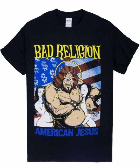 バッド レリジョン ( Bad Religion )バンドTシャツ Coop デザイン American Jesus カラー:ブラック<br>サイズ:S〜XL<br>Coopデザインのアメリカンジーザス