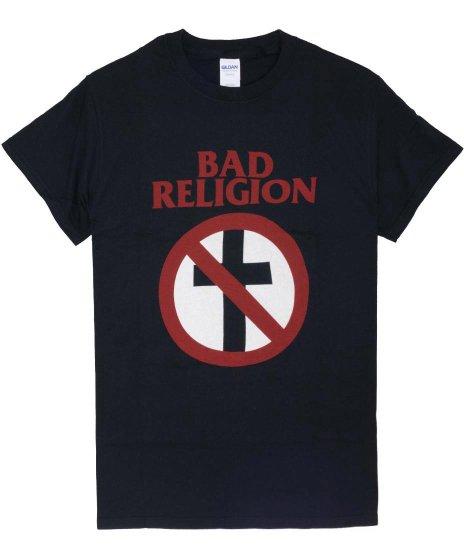 バッド レリジョン ( Bad Religion ) クロスバスター バンドTシャツカラー:ブラック<br>サイズ:S〜XL<br>定番のクロスバスターのデザイン
