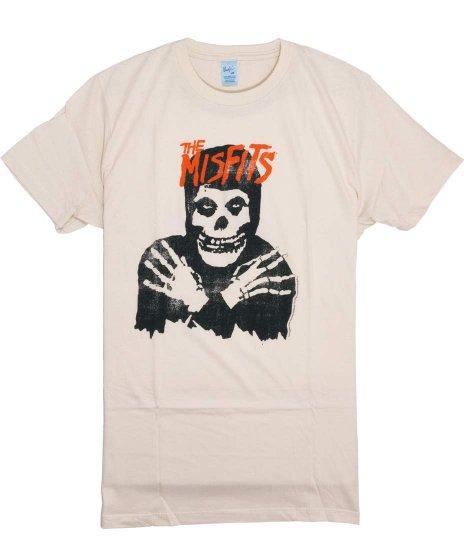 ミスフィッツ ( Misfits ) Classic Skull バンドTシャツカラー:ベージュ<br>サイズ:S〜L<br>ミスフィッツコレクション2に採用されたデザインです