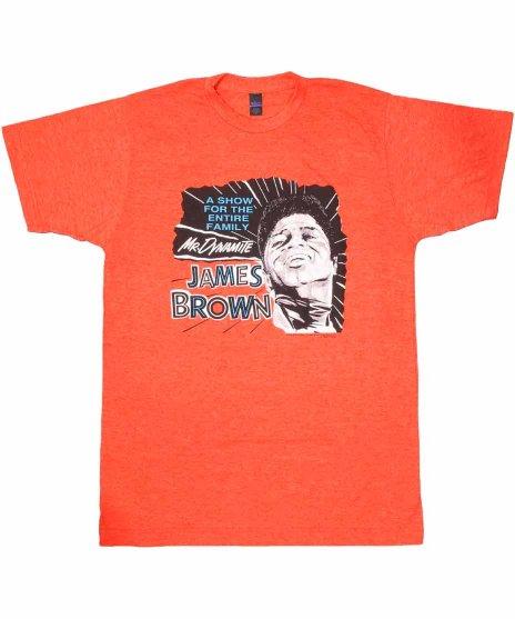 ジェームス ブラウン ( James Brown ) Mr. Dynamite バンドTシャツカラー:オレンジ<br>サイズ:S〜L<br>当時のポスターのデザインです