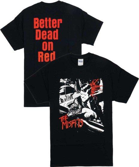ミスフィッツ ( Misfits ) Bullet ( バックプリントあり )  バンドTシャツカラー:ブラック<br>サイズ:S〜L<br>シングルBULLETのジャケットデザイン