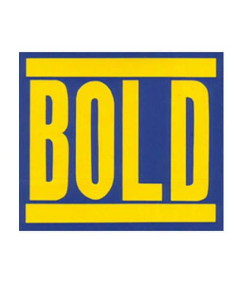 Bold バンドステッカー ロゴ