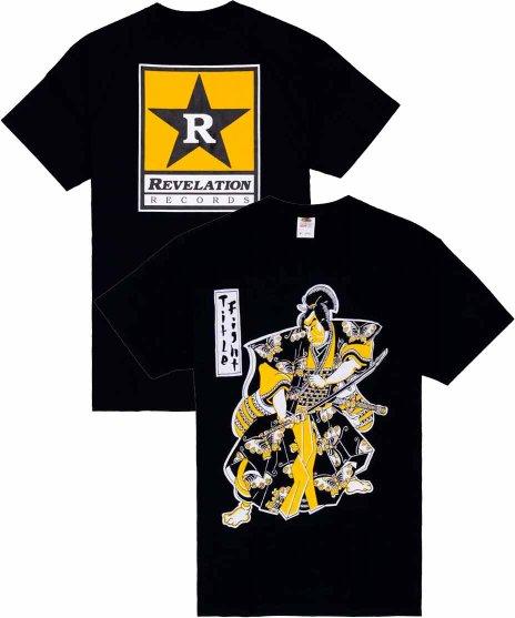 タイトル ファイト ( Title Fight ) Samurai バンドTシャツカラー:ブラック<br>サイズ:S〜L<br>ケニー・フォンテインの侍のイラストのデザインです