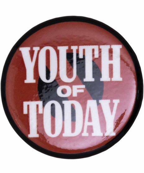 Youth Of Today ( ユースオブトゥデイ ) バンド缶バッジ No Moreカラー:レッド/ブラック<br>サイズ:25mm<br>NO MOREのデザインのバッジです