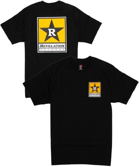 レヴェレーション レコード ( Revelation Records ) スターロゴ【ブラック】 バンドTシャツカラー:ブラック<br>サイズ:S〜L<br>ハードコア、ストレートエッジのレーベルRevelation Recordのオフィシャル