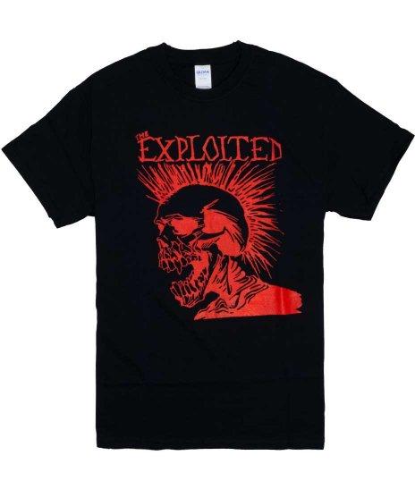 The Exploited ( エクスプロイテッド ) Let's Start A War バンドTシャツカラー:ブラック<br>サイズ:S〜XL<br>エクスプロイテッドのLet's Start Warのスカルモホークのデザイン