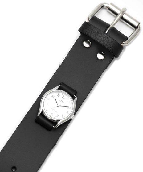 レザーブレスレットタイプ腕時計バンド。WB2 腕時計用 プレーンタイプカラー:ブラック<br>サイズ:ワンサイズ<br>シンプルなベルトタイプの腕時計バンド