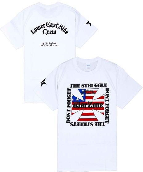ワーゾーン ( Warzone ) Don'T Forget The Struggle... 【ホワイト】 バンドTシャツカラー:ホワイト<br>サイズ:S〜L<br>ホワイトにフロントに大きくロゴを配置したデザイン