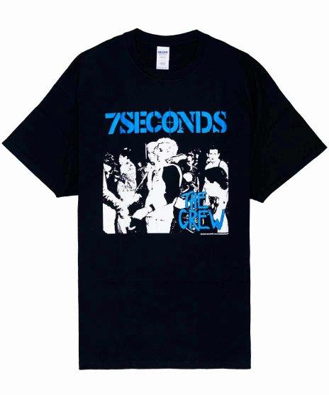 7セカンズ ( 7Seconds ) The Crew バンドTシャツカラー:ブラック<br>サイズ:S〜XL<br>7セカンズのCrewのアルバムアートをデザイン