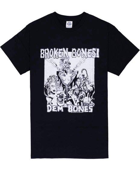 ブロークン ボーンズ ( Broken Bones ) Dem Bones バンドTシャツカラー:ブラック<br>サイズ:S〜XL<br>1stアルバムDEM BONESのデザイン