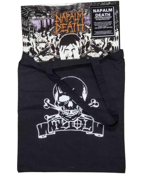 Tsol Skull Banner トートバッグカラー:ブラック<br>サイズ:41x35cm<br>TSOLのオフィシャルトートバック