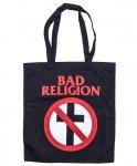 バッド レリジョン (Bad Religion) コットンバッグ クロスバスターロゴカラー:ブラック<br>サイズ:40X37cm<br>大きくクロスバスターがプリントされたデザイン