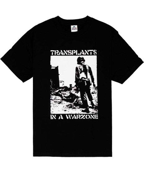 トランスプランツ ( Transplants ) Soldier  バンドTシャツカラー:ブラック<br>サイズ:M〜XL<br>写真をモノクロ2階調で兵士をデザイン
