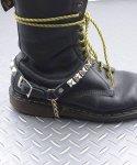 本革製ブーツストラップ ピラミッドスタッヅタイプ 左右セットカラー:ブラック<br>サイズ:S/M、M/L<br>ブーツのワンポイントに付けるだけで印象が変わります