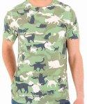 ネコ キャットカモフラージュ  メンズTシャツカラー:カモ<br>サイズ:S〜<br>ネコのデザインのカモフラージュです。