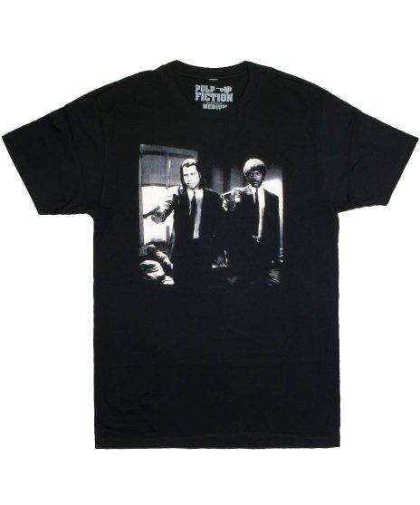 パルプ・フィクション ( Pulp Fiction ) ヴィンセント&ジュールズ 映画  メンズTシャツカラー:ブラック<br>サイズ:S〜L<br>ハンバーガーの質問直後の有名なシーン