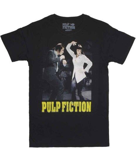 パルプ・フィクション ( Pulp Fiction ) ダンスオフ 映画  メンズTシャツカラー:ブラック<br>サイズ:S〜XL<br>パルプ・フィクションのミアとヴィンセントのデザイン