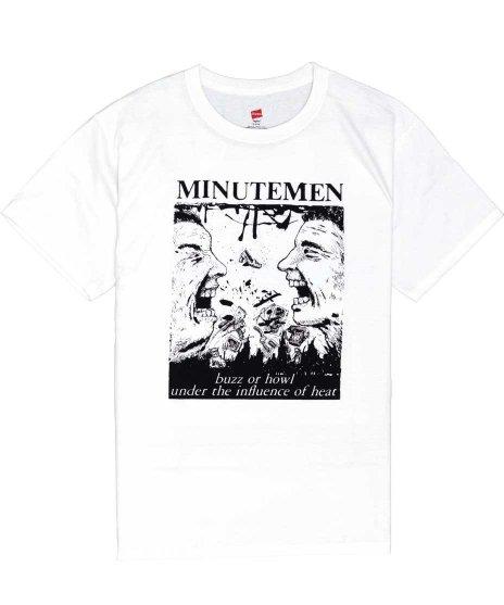 ミニッツメン ( Minutemen ) Buzz Or Howl バンドTシャツカラー:ホワイト<br>サイズ:S〜L<br>ミニットマンのアルバムBuzz..のジャケットデザイン