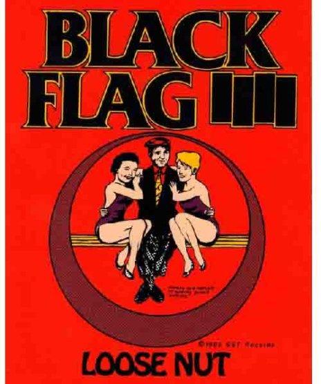 Black Flag(ブラック・フラッグ) バンドステッカー Loose Nutカラー:レッド<br>サイズ:11x14cm<br>Black FlagのアルバムLoose Nutのジャケットステッカー