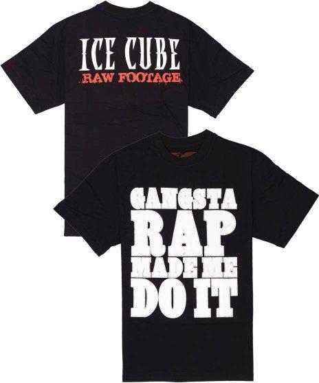 アイス キューブ ( Ice Cube ) Gangsta Rap バンドTシャツカラー:ブラック<br>サイズ:M〜XL<br>大きくGANGSTA RAP MADE DO ITと大きくプリント