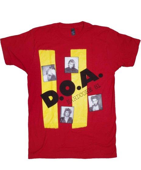DOA Hardcore 81 バンドTシャツカラー:レッド<br>サイズ:S〜L<br>ハードコアと言う言葉を初めて使った記念すべきアルバム