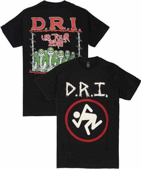 DRI 2016 USツアーデザイン バンドTシャツカラー:ブラック<br>サイズ:S〜L<br>2016年のDRI北米ツアーデザイン。