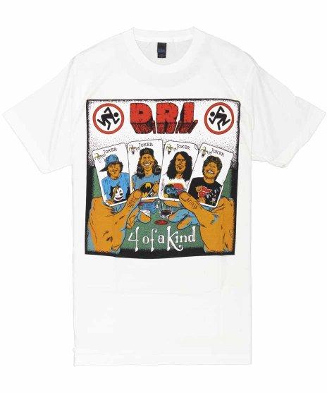 DRI 4 Of A Kind バンドTシャツカラー:ホワイト<br>サイズ:S〜XL<br>アルバム 4 of a Kindのジャケットデザイン