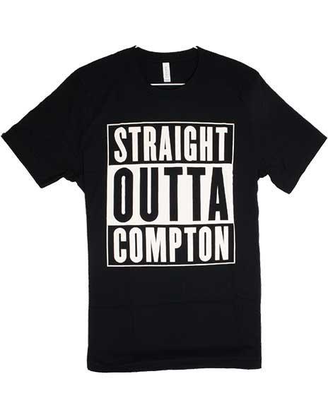 NWA ストレイト アウタ コンプトン バンドTシャツカラー:ブラック、ホワイト<br>サイズ:M〜XL<br>N.W.A.のドキュメンタリー映画のロゴデザイン