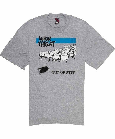 マイナー スレット ( Minor Threat ) Out Of Step バンドTシャツカラー;グレー<br>サイズ:S,XL<br>マイナースレットのOut Of Stepのジャケットデザイン
