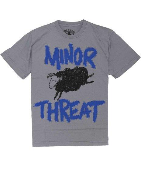 マイナー スレット ( Minor Threat ) Out Of Step 「黒の羊」 バンドTシャツカラー:ダークグレー<br>サイズ:S〜XL<br>Out of Stepの羊のデザインです
