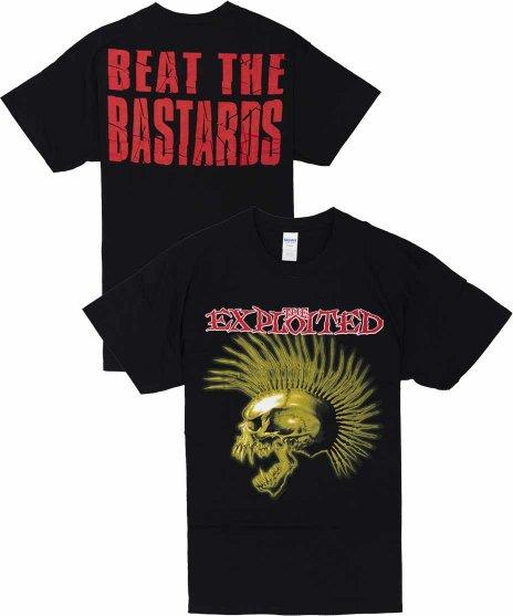 The Exploited ( エクスプロイテッド ) Beat The Bastards バンドTシャツカラー:ブラック<br>サイズ:S〜XL<br>1996年のアルバムBeat The Bastardsのデザイン