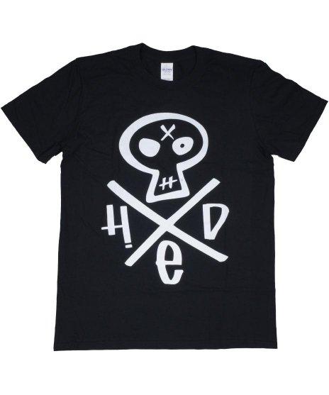 (hed)pe ヘッドスカル バンドTシャツカラー:ブラック<br>サイズ:M〜XL<br>HED PEのスカルロゴをプリント