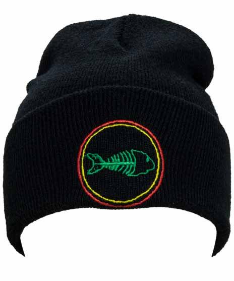 フィッシュボーン ( Fishbone ) ビーニー 刺繍ロゴ