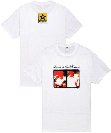 Texas Is The Reason オフィシャルバンドTシャツ LP Cover カラー:ホワイト<br>サイズ:S〜L<br>1996年発表のアルバムアートワークをプリント