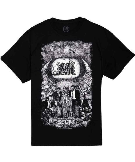 ナパーム デス ( Napalm Death ) Scum ヴィンテージ バンドTシャツカラー:ブラック<br>サイズ:S〜L<br>ナパームデスの1stアルバムのジャケットのデザインです。