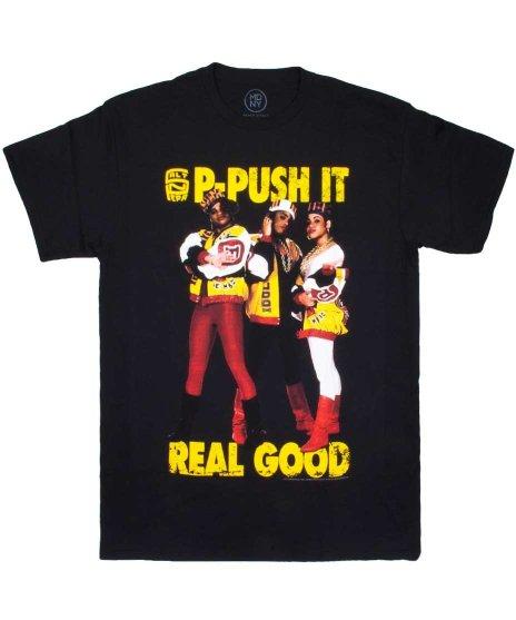 Salt N Pepa オフィシャルバンドTシャツ P-Push It カラー:ブラック<br>サイズ:M〜XL<br>Salt N Pepaのヒット曲P-Push Itのアートワーク