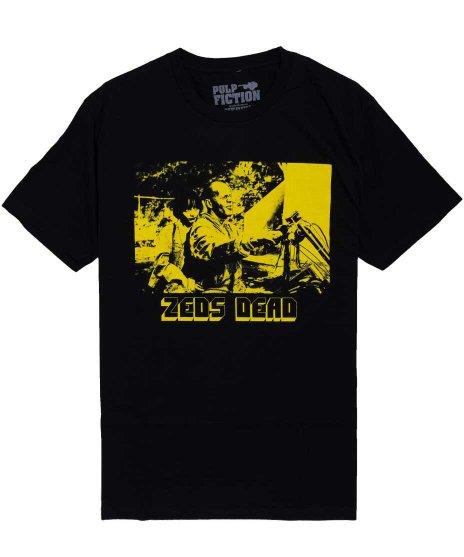 パルプ・フィクション ( Pulp Fiction ) Zeds Dead ブルース ウィリス 映画  メンズTシャツカラー:ブラック<br>サイズ:M〜XL<br>珍しいブルース ウィリスのパルプフィクションのデザインです