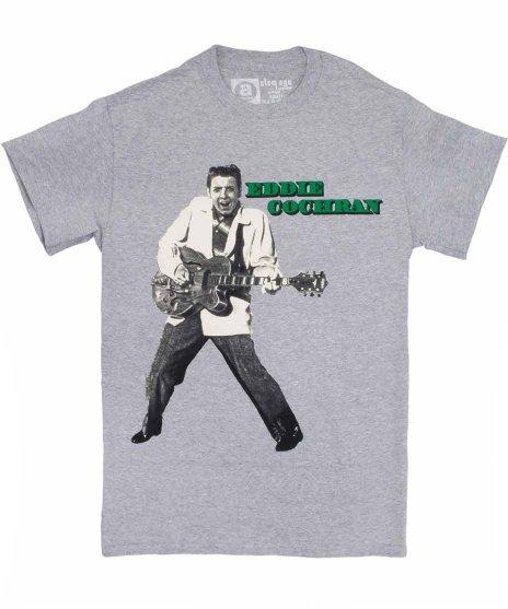 エディ コクラン ( Eddie Cochran ) Dollar バンドTシャツカラー:グレー<br>サイズ:S〜L<br>エディー・コクランとギターのデザインです。