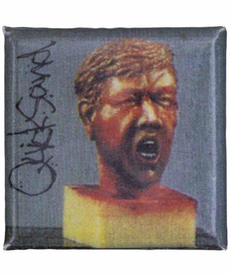 Quicksand ( クイックサンド ) バンド缶バッジ スクエアカラー:1stEPのジャケット<br>サイズ:25mm正方形<br>クイックサンドの1stEPのジャケットデザインです。
