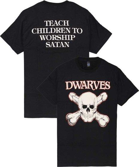 Dwarves Teach Children オフィシャルバンドTシャツカラー:ブラック<br>サイズ:S,M,L<br>ドワーブスのスカル&ボーンズのデザイン