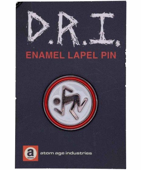 DRI バンドピンバッジ Skankerロゴ ブラック×ホワイト×レッドカラー:BK/WH/RD<BR>サイズ:1インチ<br>おなじみのロゴデザイン